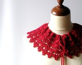 RESERVED FOR ANNA Red Lace Collar