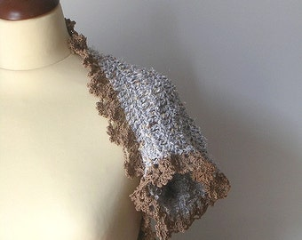 Crochet  Shrug with Lace