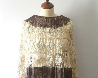 Champagne Lace Stole