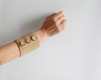 Beige Wrist Cuff