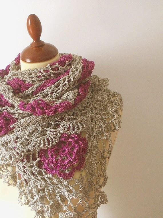Lace Shawl  Antique Rose