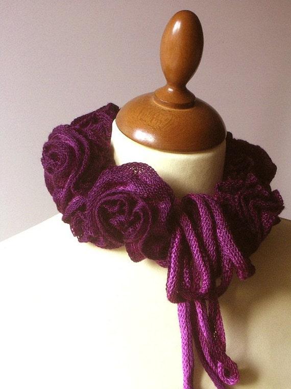 Ruffled Cowl Purple