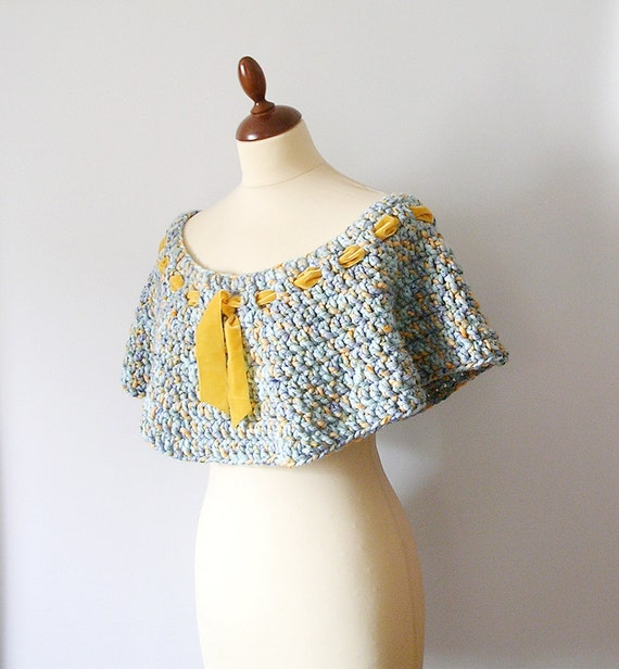 Blue and Yellow Capelet