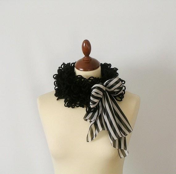 Black Cowl Neckwarmer