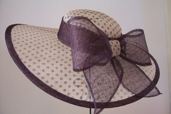 Kentucky Derby hat in Plum Polkadot 2