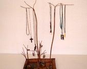 Copper Jewelry Tree