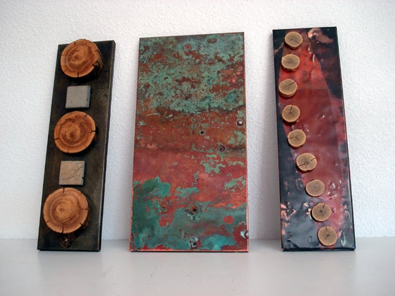 Copper Art- 3 Piece Mixed Media
