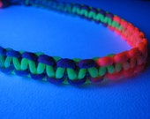 GALACTIC RAVE HeMp UV RaINbOw Choker BlaCkLIghT NeoN RoBoTIc KiTtY