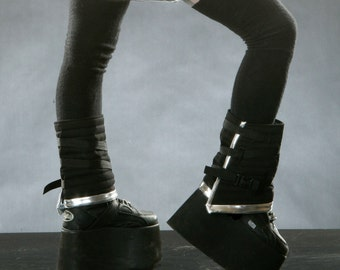 CYBER SPATS Boot Covers Futuristic Cyber Goth Custom Listing for SEVEN RoBoTIc KiTtY