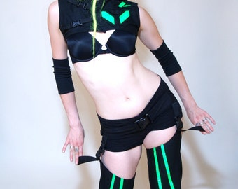 A STITCH IN TIME ArmWaRmEr Set of 2 Futuristic Cyber Goth Custom Made For You RoBoTIc KiTtY