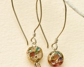 Samedi- festive glass earrings with Sterling Silver-Hippopotame Jewelry Designs