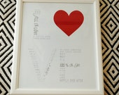 Love Story - Custom print with your story 16x20 (Black, White, Red)