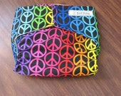 Peace Signs Cloth Diaper Cover XS, S, M, L