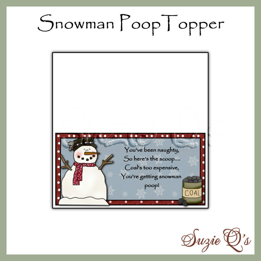 Handy image intended for snowman poop printable