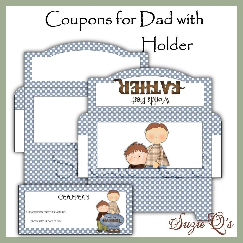 make your own coupons for dad digital printable immediate