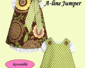 Jumper Pattern, Reversible Aline Dress and Under Slip Patterns PDF Sewing Pattern Combo Deal Baby