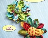 Kanzashi Fabric Flower Pattern, Kanzashi Japanese Flower PDF Pattern, Easy to Make, Fabric Flower Pattern