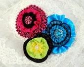 Fabric Flower, Fabric Flower Pattern, Ribbon Flower PDF Pattern, Fabric Flowers, Flower Headband, Flower Hat, Fabric Clip, Supp