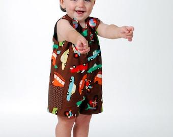 Boy Sunsuit  Romper Pattern, Jon Jon PDF Pattern, John John , Overalls, Sew Handsome Reversible Romper PDF Pattern  Children