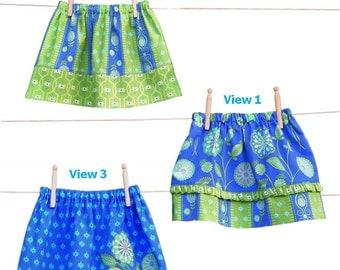 Skirt Pattern , Toddler Skirt Pattern, Easy PDF Sewing Patterns, Girl Skirt Pattern, Easy Pattern, SEW SASSY