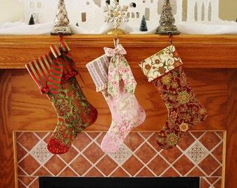 Christmas Stocking Pattern PDF FREE Big Bow Pattern , Fully Lined Christmas Stocking , Easy Holiday Christmas Gift
