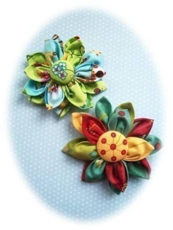 Kanzashi  Flower PDF Pattern, Kanzashi Fabric Flower PDF Pattern, Easy to Make, Brooch, Pin, Bouquet, Fabric Flower Pattern, Accessories