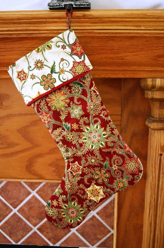 Christmas Stocking Pattern PDF FREE Big Bow Pattern Victorian
