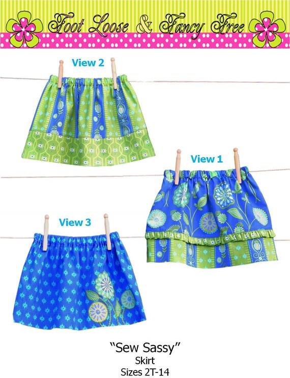 Skirt Pattern Toddler Skirt Pattern Easy PDF by