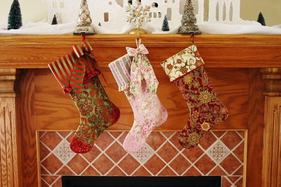 Christmas Stocking Pattern PDF FREE Big Bow Pattern , Fully Lined Christmas Stocking , Easy Holiday Christmas Gift