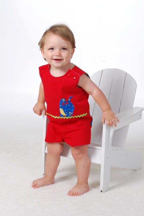 Royal Prince George Type Romper Pattern, Baby Boy Romper Pattern, PDF Romper Pattern, Sizes 6M-6Child,  Reversible Jon Jon Pattern,