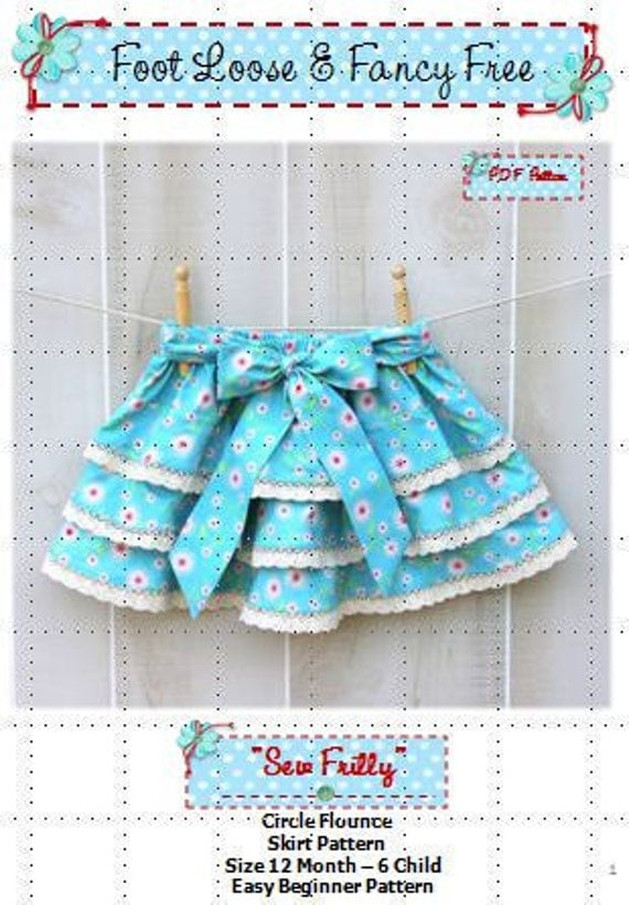 SEW FRILLY Skirt Pattern New Easy Circle Flounce Design