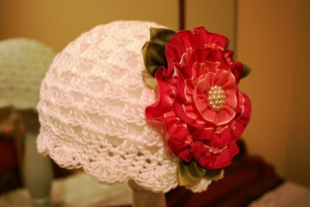 Crochet Cloche Hat and Ribbon Flower COMBO PDF by ...
