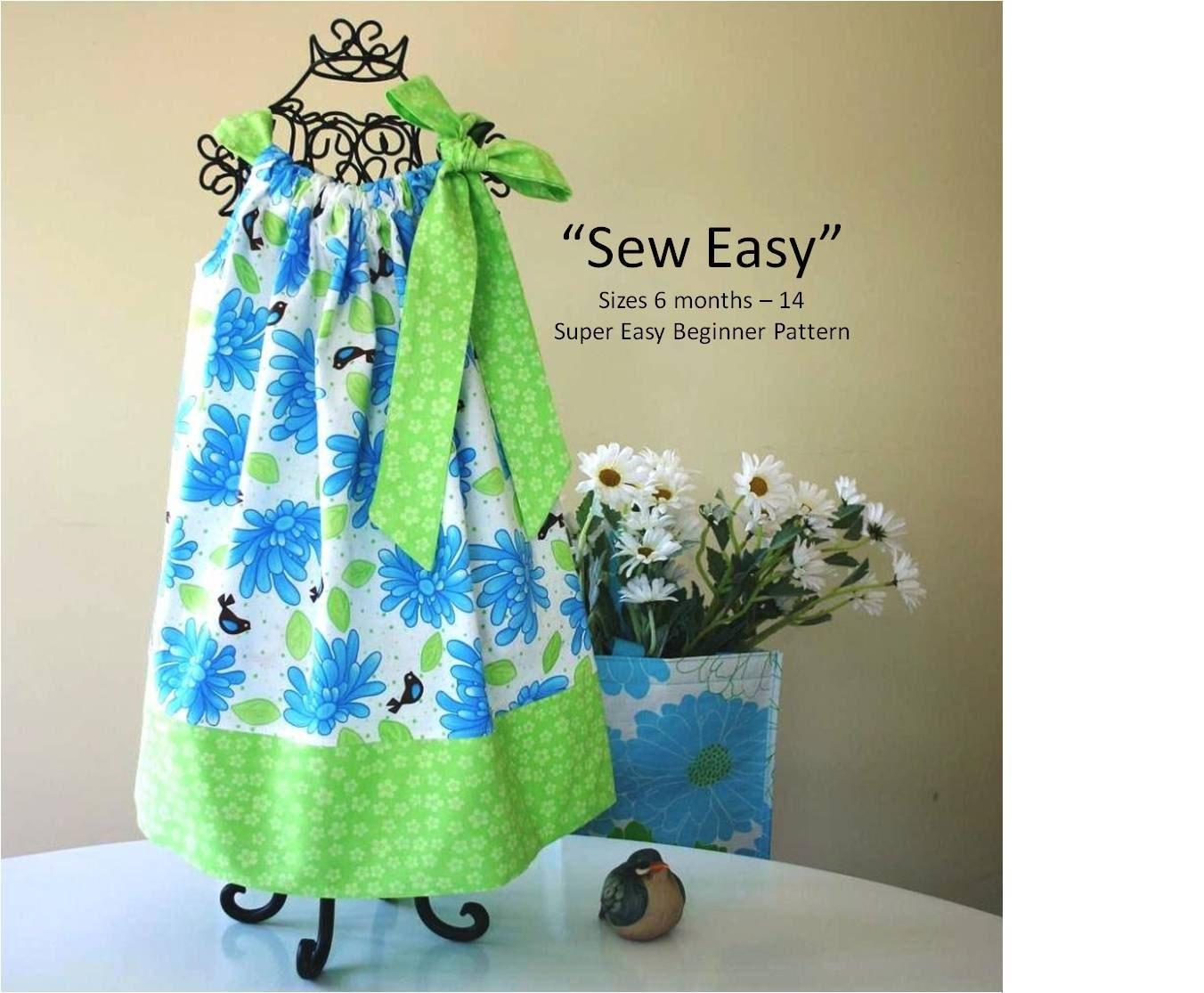 Pillowcase Tutorial Pdf: Sew Easy Pillowcase Dress Pattern   INSTANT DOWNLOAD   PDF Pattern    ,