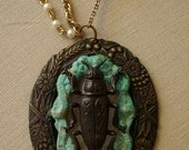Weberly Woods Beetle Necklace