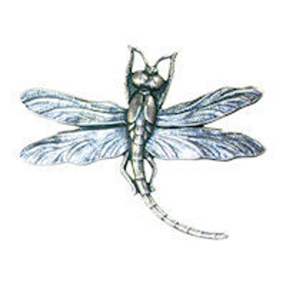 Trinity Brass Dragonfly Stamping- Antique Silver