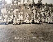 Vintage group photo of Granville N.Y. Fire Dept., 1934, beautiful condition