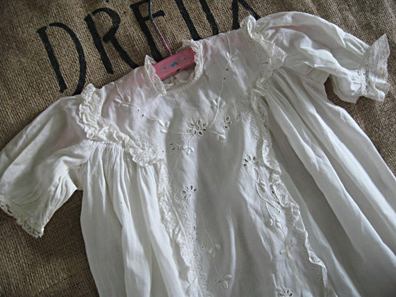 Antique vintage baby gown, victorian era, christening/baptism