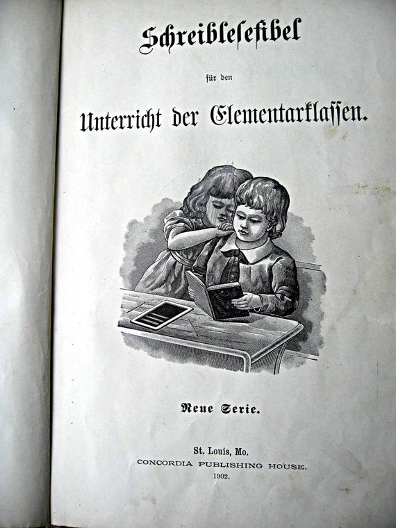 Vintage german language book for children, beautifully illustrated, 1902