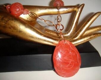 Quartz Brings Good Luck and Fortune           (Cherry Quartz Necklace)