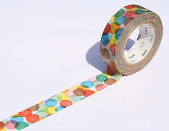 Japanese MT Washi Masking Tape -  Spot Yellow Confetti