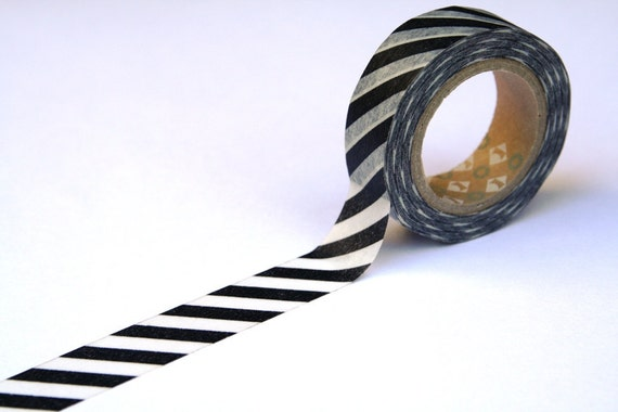 Japanese MT Washi Masking Tape - Stripe Monochrome