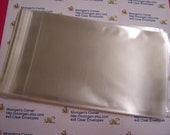 100  4  x 6  Clear Resealable Cello Bag Envelopes For Cards, Pictures and more