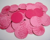 Pink Hand Punch Circles 100 Pcs, For Cards, scrapbooking and more