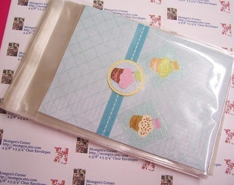 50 4 3/8 x 5 3/4 Clear Resealable Cello Bag Envelopes For Cards, Pictures and more