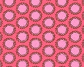 SALE Amy Butler Fabric,  Laurel Dots in Cherry, Soul Blossoms Collection, 1 yard