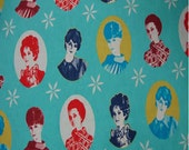 Cameo in Aqua by Melody Miller, Ruby Star Rising, Cotton/Linen Fabric, FAT QUARTER