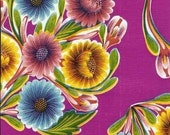Oilcloth, Bloom Floral Magenta, 1\/2 yard