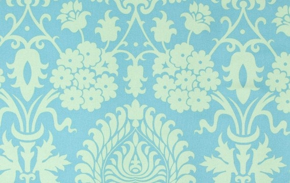 Amy Butler Bali Gate in Turquoise, Home Decor fabric, Love Collection, 54/55 inches wide cotton sateen,1 yard