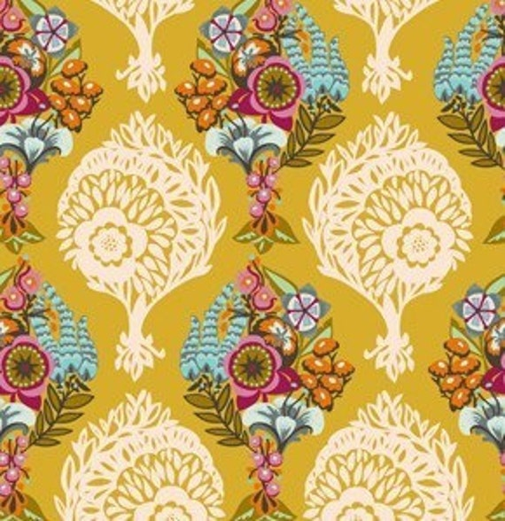 Innocent Crush Cotton Quilting Fabric by Anna Maria Horner, Loves Me Loves Me Not in Golden, 1 yard