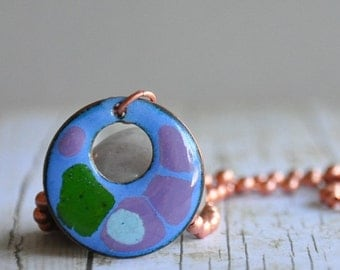 Enamel on Copper Necklace